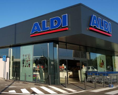 Aitana ACS construccion Aldi en Mairena de Aljarafe