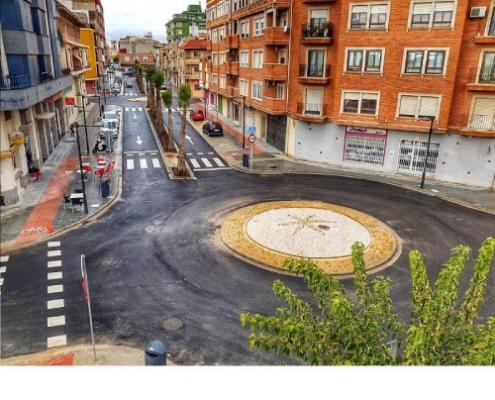 Reurbanización de calle Santa Barbara en Benifaio