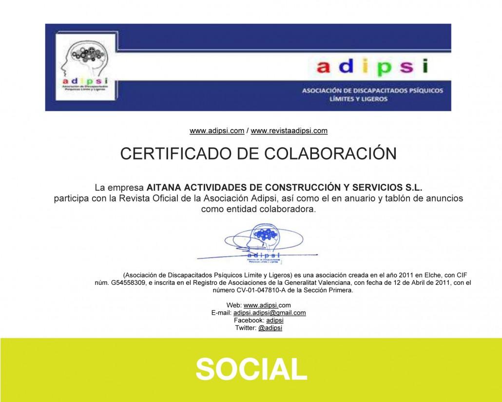 Responsabilidad Social Corporativa - Social - Aitana ACS