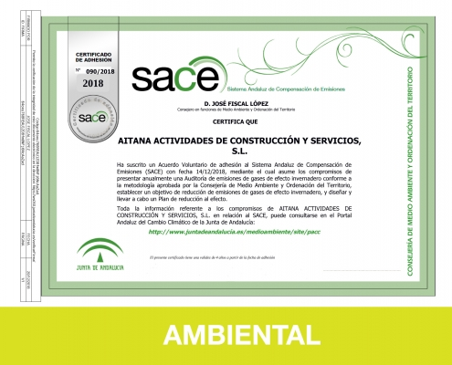 Responsabilidad Social Corporativa - Ambiental - Aitana ACS