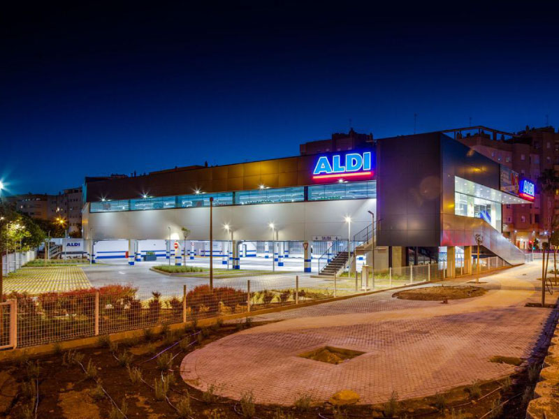 Construccion de supermercado Aldi en Sevilla