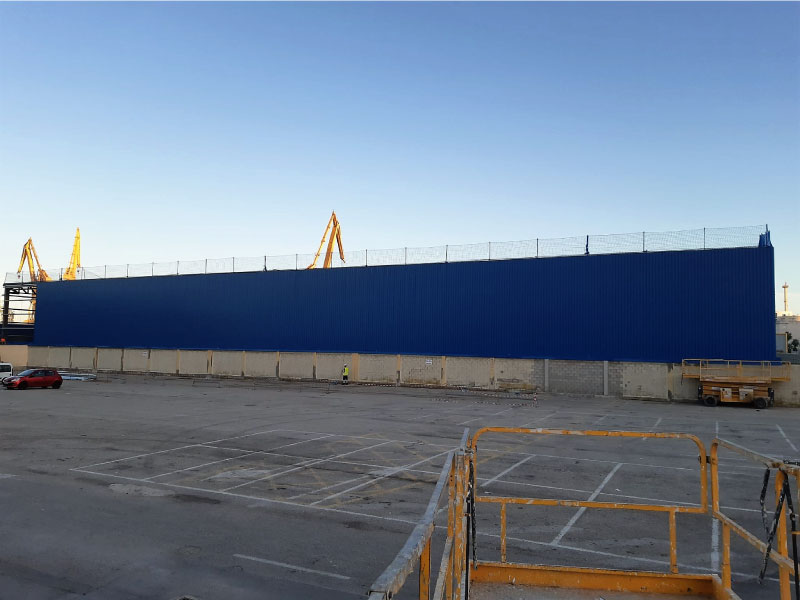Construccion de nave almacen para navantia