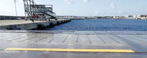 Reparación del muelle del Tacón de Poniente en el Puerto de Son Blanc (Menorca)