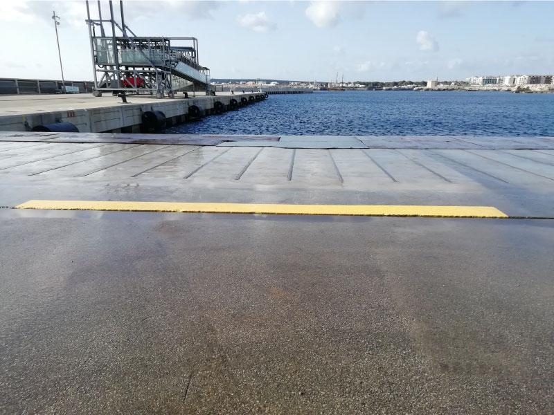Reparación y refuerzo de muelle de poniente en Ciudadela Menorca