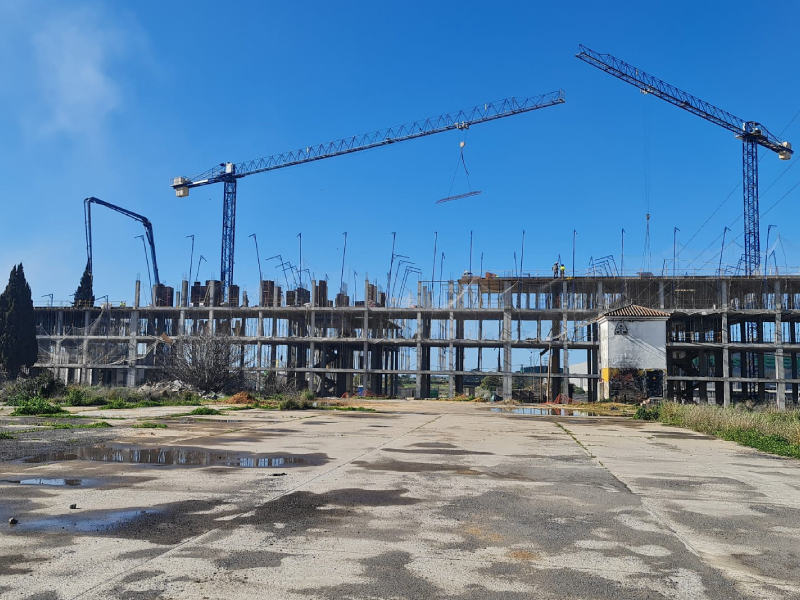 Obra de construccion de estructura para 92 viviendas en Dos Hermanas AITANA-ACS